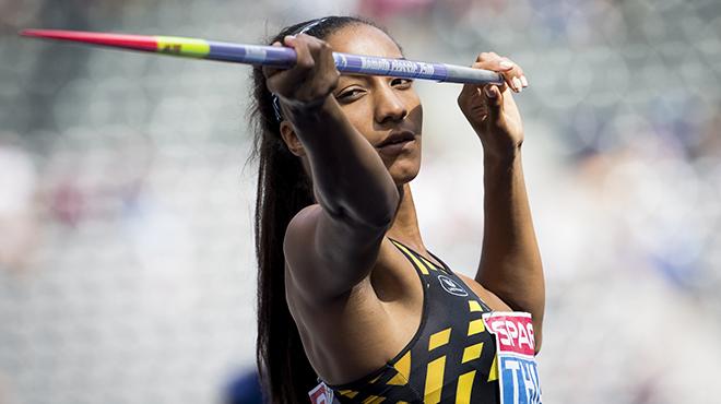 Nafissatou Thiam passe en tête grâce à un magnifique lancer du javelot
