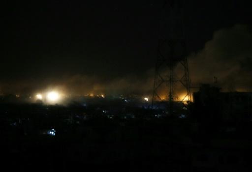 Syrie: tirs de la défense anti-aérienne vers une