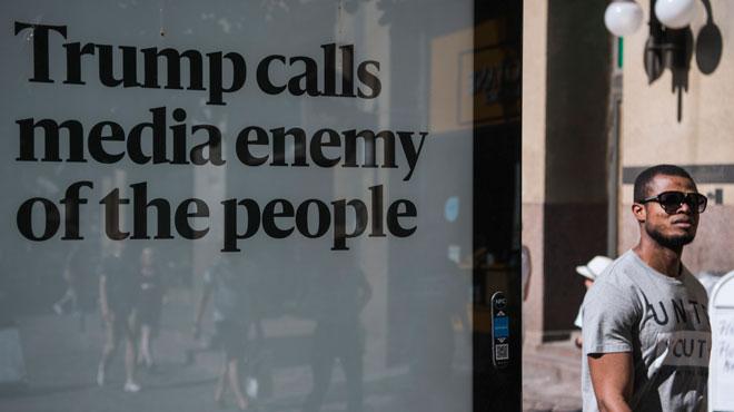 Une centaine de journaux américains préparent une contre-attaque commune contre Trump