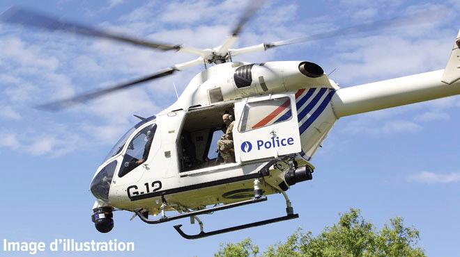 Une importante opération a mobilisé l'hélicoptère de la police à Amay: