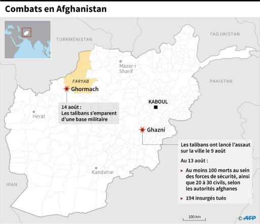 Afghanistan: les talibans s'emparent d'une base militaire dans le Nord