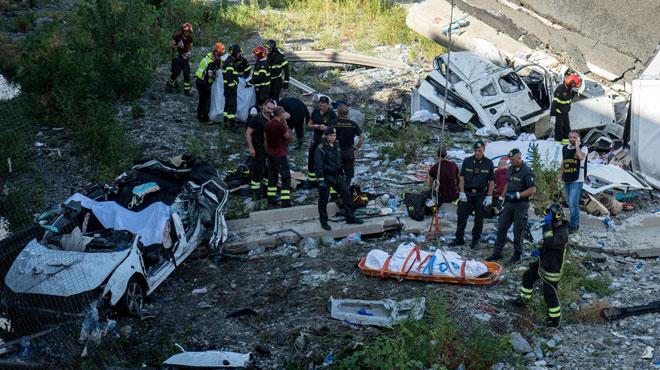 Effondrement d'un viaduc en Italie: 42 personnes ont perdu la vie selon un dernier bilan officiel