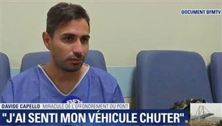 Davide a survécu à l'effondrement du viaduc de Gênes- Ma voiture s'est encastrée dans des blocs de béton et je suis tombé avec eux (vidéo) 2