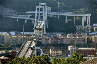 Viaduc effondré à Gênes- l'espoir s'amenuise, une quarantaine de morts