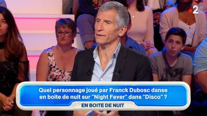 Nagui DESCEND l'un des films phare de la carrière de Franck Dubosc en pleine émission:
