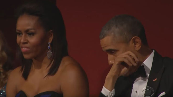 Quand Aretha Franklin émouvait aux larmes Barack Obama (vidéo)