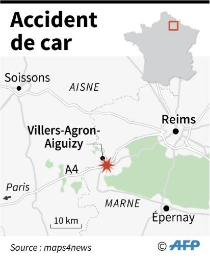 Aisne: 9 blessés, dont 2 graves, dans un accident d'un car d'une colonie de vacances