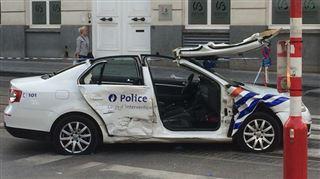 Un accident impliquant une voiture de police fait 7 blessés dans le centre Bruxelles (photos) 5