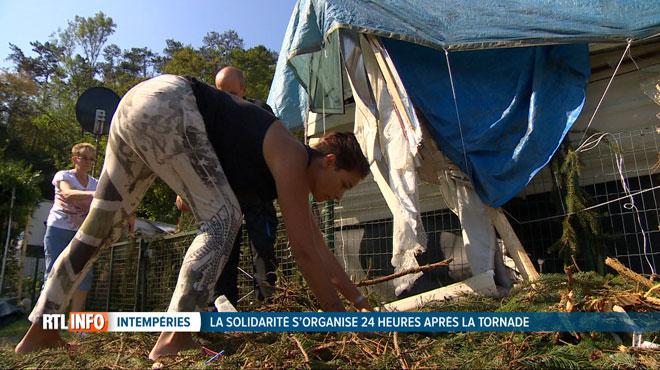 La tempête a aussi touché violemment des campings: à Hamoir, une belle solidarité s'organise