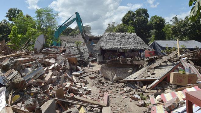 L'île de Lombok frappée par un 2e tremblement de terre en une journée, plus violent que celui de ce matin