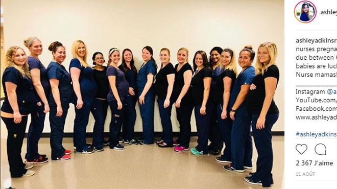 Phénomène intriguant aux Etats-Unis: 16 infirmières d'un même hôpital enceintes en même temps