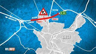 Des travaux et la vitesse limitée à 70 km/h entre Rocourt et Alleur sur la E40- l'enfer pour les automobilistes pendant un mois? 2