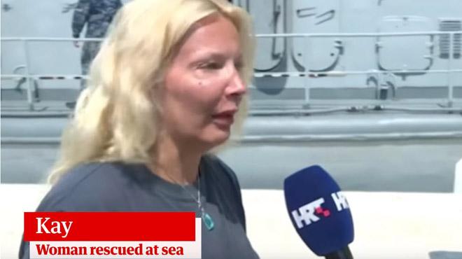 Croatie: une Britannique secourue après dix heures dans l'Adriatique (vidéo)