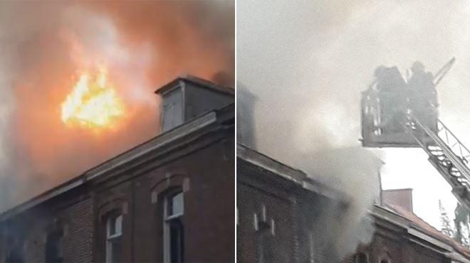 Plusieurs habitations touchées par un gros incendie à Boussu- 7 personnes évacuées (vidéo) 1