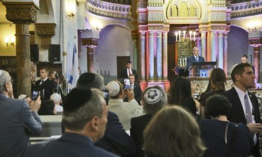 Les juifs toujours menacés, selon Netanyahu en visite à Vilnius