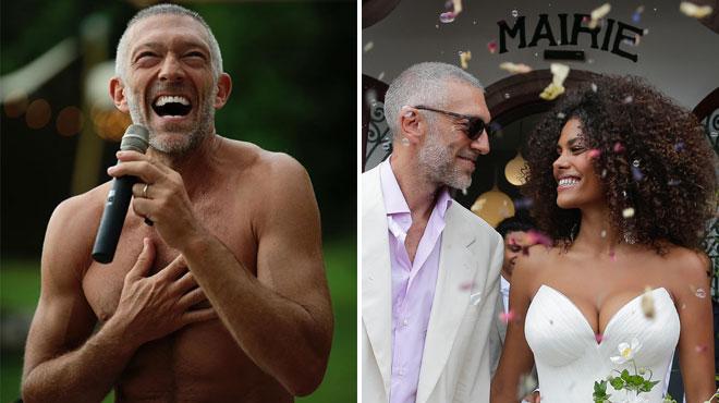 Fraîchement marié à Tina Kunakey, Vincent Cassel chante pour elle en serviette de bain (vidéo)