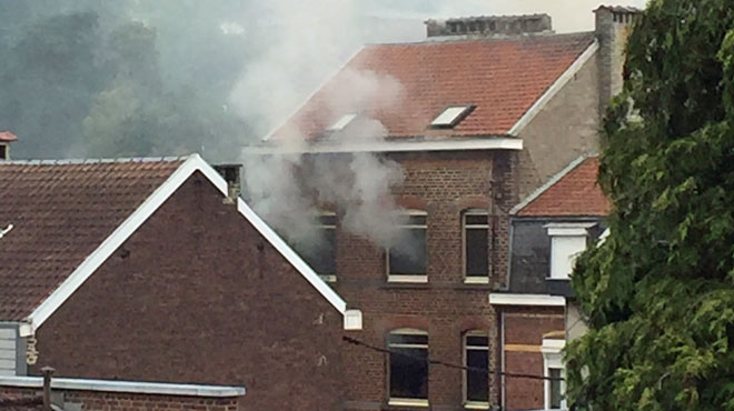 Incendie d'une maison de Mangombroux à Verviers