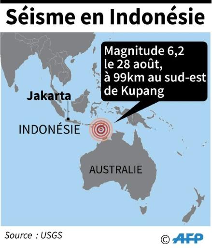Séisme de magnitude 6,2 dans l'est de l'Indonésie, pas de dégâts signalés
