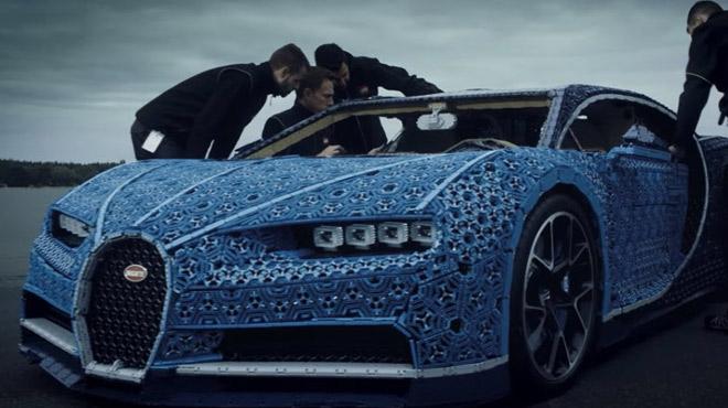 Vidéo : une Bugatti Chiron en Lego Technic roulante