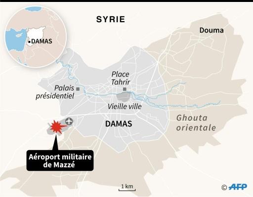 Deux morts dans des explosions sur une base militaire près de Damas