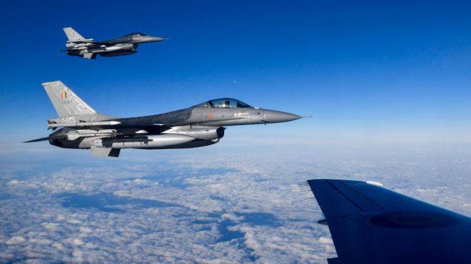 Des F-16 belges face à des avions russes au-dessus de la mer Baltique