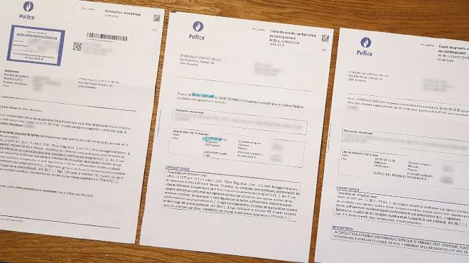 Ce Bruxellois a reçu deux amendes routières à payer dans les 3 jours: