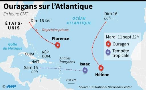 L'ouragan Isaac rétrogradé en tempête tropicale, mais les Antilles se préparent