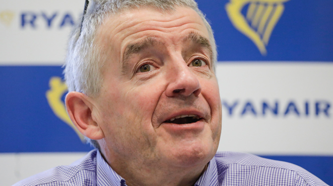 Le patron de Ryanair, Michael O'Leary, s'adresse aux grévistes:
