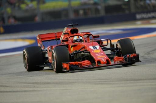 GP de Singapour: Vettel (Ferrari) se montre