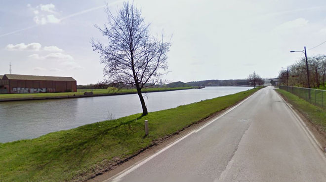 Un rameur disparaît dans le canal de Willebroek à Grimbergen
