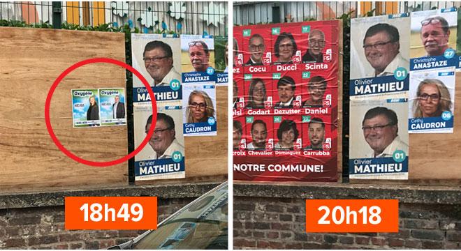 Le PS de Colfontaine colle ses affiches sur celles d'une petite liste?