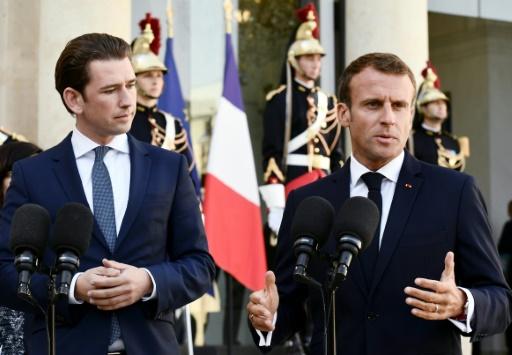 Taxation des Gafa: Kurz et Macron espèrent un accord d'ici la fin de l'année
