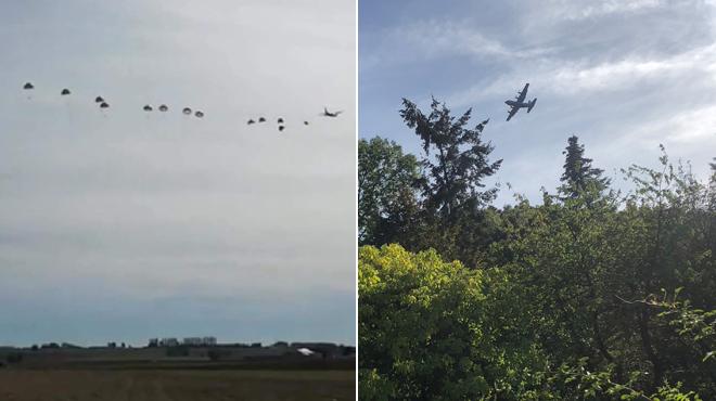 Des militaires parachutés et des avions à basse altitude au-dessus de Nivelles et d'Estinnes: voici ce qui s'est passé
