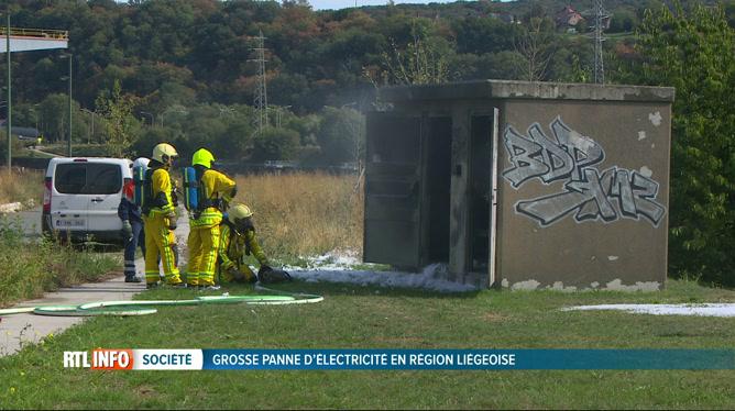 Panne d'électricité en région liégeoise: