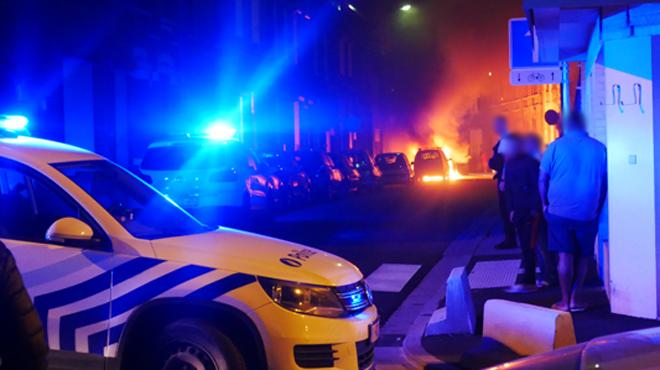Incendie de voitures à Charleroi: