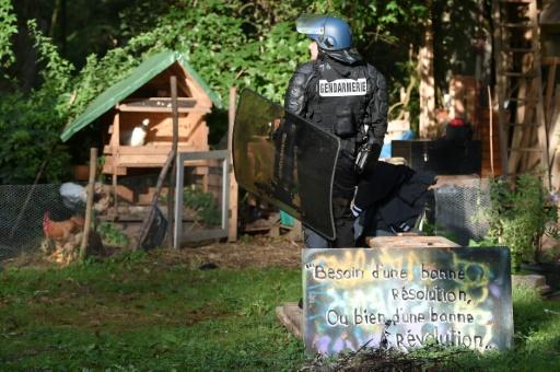 Projet de rocade à Strasbourg:  retour d'opposants sur la Zad évacuée