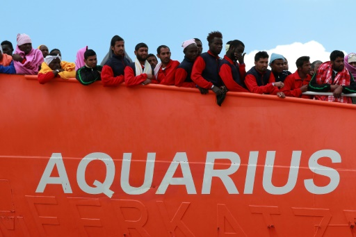 Migrants: l'Aquarius