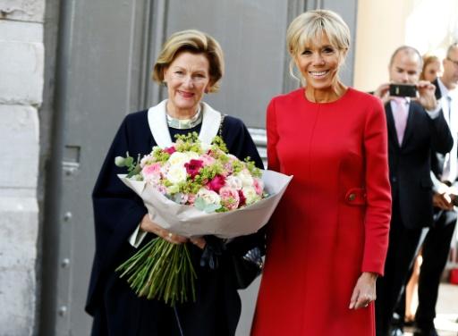 La reine de Norvège et Brigitte Macron à Rouen pour célébrer la coopération franco-norvégienne