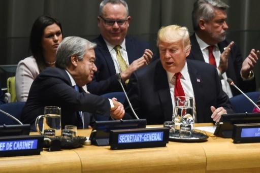 De retour à l'ONU, Donald Trump loue le