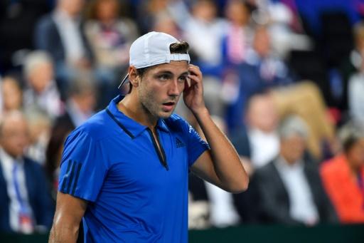 Tennis: Lucas Pouille, toujours blessé, déclare forfait à Tokyo
