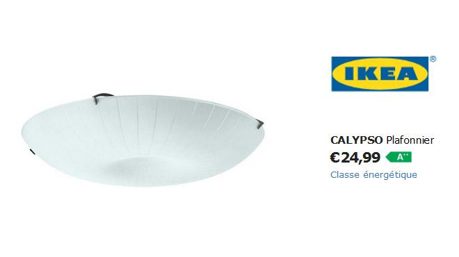 Rappel des lustres Calypso pour risque de chute — Ikea