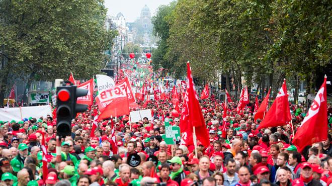Réforme des pensions: les syndicats prévoient des manifestations dans les grandes villes la semaine prochaine