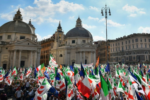 Italie: manifestation pour relancer une gauche en déroute