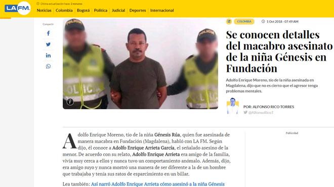 La Colombie sous le  choc après le meurtre d'une fillette, brûlée dans un jardin