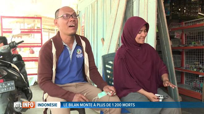 Séisme en Indonésie: après 48h d'angoisse, Azwan retrouve sa femme, Dewi, emportée dans le tsunami