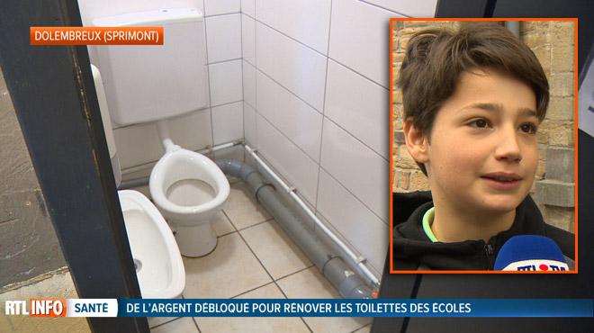 Dans cette école de Dolembreux, les toilettes ont été rénovées grâce à un fonds spécial: