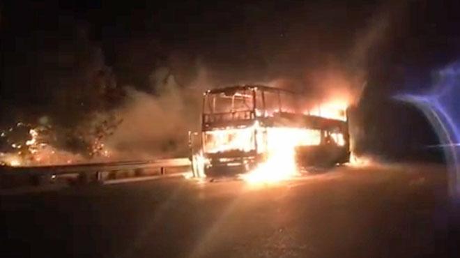 Un car transportant 37 Belges prend feu en Espagne