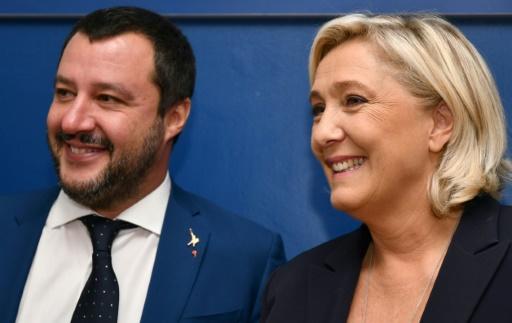 UE: les souverainistes Salvini et Le Pen s'en prennent au