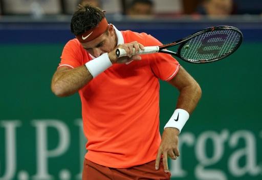 Tennis: Del Potro chute et abandonne à Shanghaï