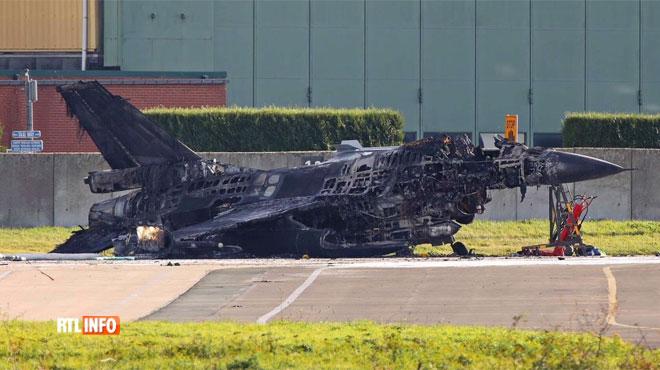 Un F-16 rempli de kérosène prend feu à la base aérienne de Florennes: un armurier maladroit à l'origine de cet incident?